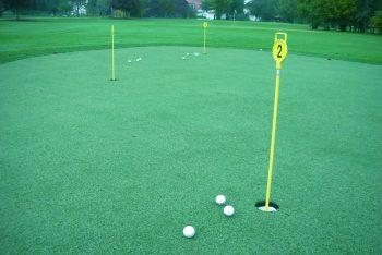 Rasenfläche Golfplatz