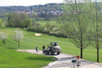 Golfplatz Wegarbeiten