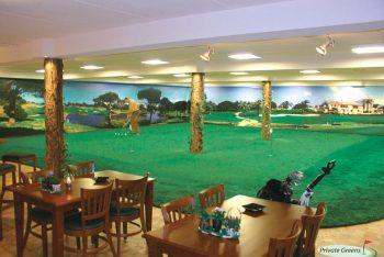 Indoor Golfplatz