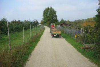 Landweg mit Hansegrand-Verarbeitung