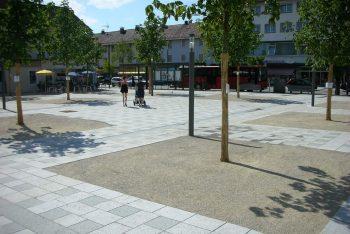 Stadtplatz mit Stabilizer-Verarbeitung