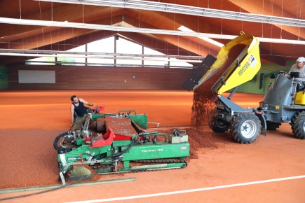 Einbau Tennisbelag ProClay 435x290