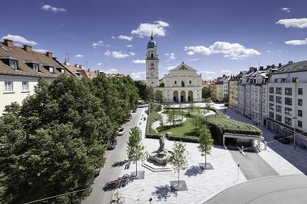 Josephsplatz München 2016 .  Fotograf: Peter Schinzler